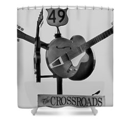 Tribute To The Blues At The Crossroads Shower Curtain by Dan Sproul
