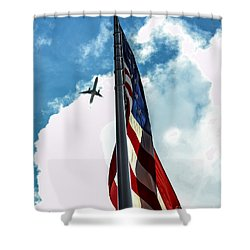 Tribute To The Day America Stood Still Shower Curtain