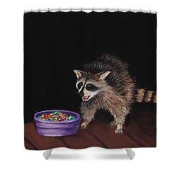 Trick-or-treat Shower Curtain by Anastasiya Malakhova