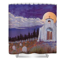 Trick Or Treat Shower Curtain by Jerry McElroy