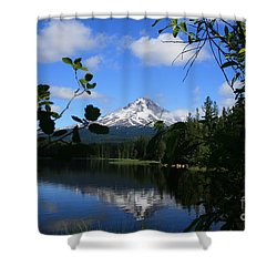 Trillium Lake With Mt. Hood  Shower Curtain