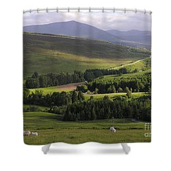 Summer In The Hills Of Perthshire  Shower Curtain by Phil Banks