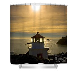 Trinidad Memorial Lighthouse Shower Curtain