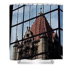 Trinity Chruch Reflected Shower Curtain