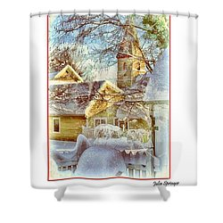 Trinity Episcopal Church In The Snow - Shepherdstown  Shower Curtain