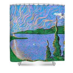 Trinity Lake Series Shower Curtain by Stefan Duncan