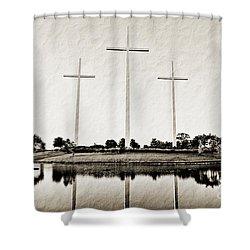 Trinity Shower Curtain by Scott Pellegrin