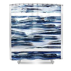 Shower Curtain featuring the photograph Trio In Blue by Wendy Wilton