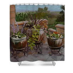 Trio Shower Curtain by Pattie Wall