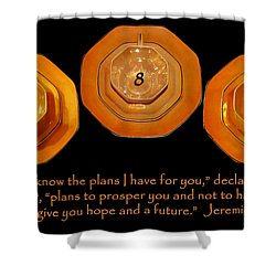 Triple Eight Octagon Saucers With Jeremiah Twenty Nine Eleven On Black Shower Curtain