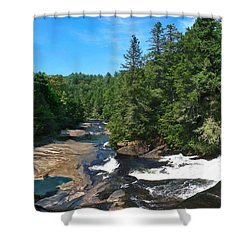 Triple Falls North Carolina Shower Curtain