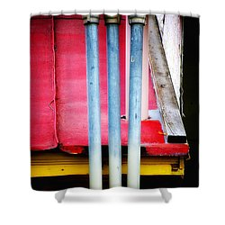 Triple Play Shower Curtain
