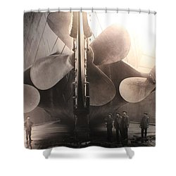 Triple Screws Shower Curtain
