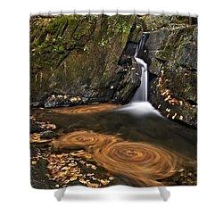 Triple Swirls Shower Curtain by Susan Candelario