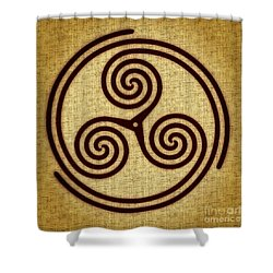 Triskelion  Shower Curtain by Olga Hamilton