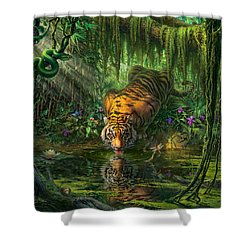 Aurora's Garden Shower Curtain