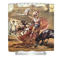 Triumphant Achilles Shower Curtain