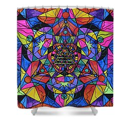 Triune Transformation Shower Curtain by Teal Eye  Print Store