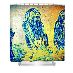 The Council Of Elders Are Gathered To A Meeting Shower Curtain