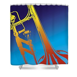 Trombone Shower Curtain