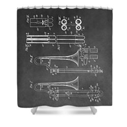Trombone Design Shower Curtain by Dan Sproul