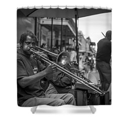 Trombone In New Orleans 2 Shower Curtain