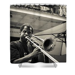Trombone In New Orleans Shower Curtain