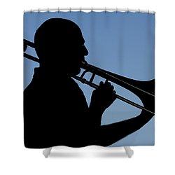 Trombone Player Shower Curtain
