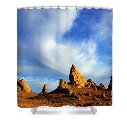 Trona Pinnacles California Shower Curtain by Bob Christopher