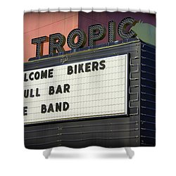 Tropic Theatre Shower Curtain by Laurie Perry