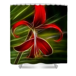Tropical Abstract Shower Curtain by Vivian Christopher