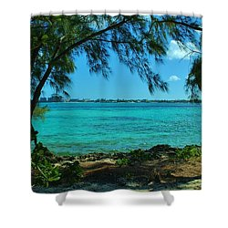 Tropical Aqua Blue Waters  Shower Curtain