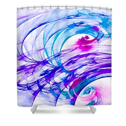 Tropical Breeze Shower Curtain by Peggy Hughes