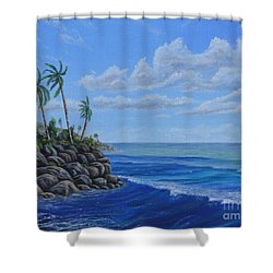 Tropical Day Shower Curtain