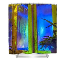 Tropical Door Shower Curtain