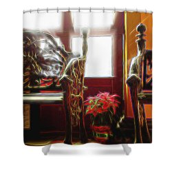 Tropical Drawing Room 1 Shower Curtain