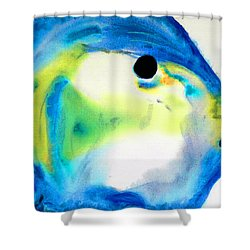 Tropical Fish 3 - Abstract Art By Sharon Cummings Shower Curtain by Sharon Cummings
