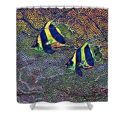 Coral Reef Tropical Fish Colorful Water Art Shower Curtain