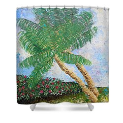 Shower Curtain featuring the painting Tropical Flair by Margaret Bobb