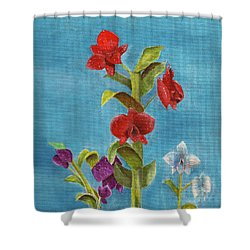 Shower Curtain featuring the painting Tropical Flower by Thomas J Herring