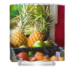 Tropical Fruitstand Shower Curtain