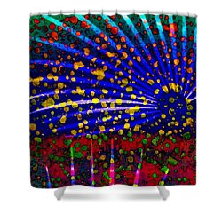 Tropical Fusion Palm Shower Curtain