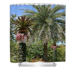 Tropical Garden Shower Curtain by Kim Hojnacki