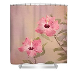 Tropical Hibiscus Shower Curtain by Kim Hojnacki