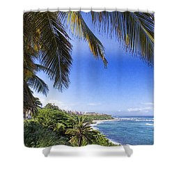 Tropical Holiday Shower Curtain by Daniel Sheldon