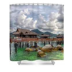 Tropical Home Shower Curtain by Adrian Evans