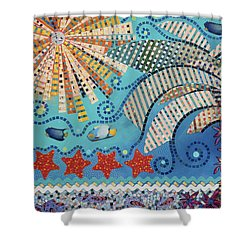 tropical landscapes - On the Edge of the Yucatan Shower Curtain
