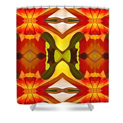 Tropical Leaf Pattern  11 Shower Curtain by Amy Vangsgard