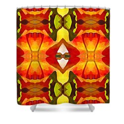 Tropical Leaf Pattern  12 Shower Curtain by Amy Vangsgard