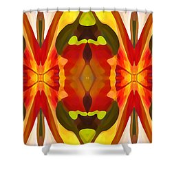 Tropical Leaf Pattern 13 Shower Curtain by Amy Vangsgard